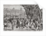Japanese fair in Yedo, now known as Tokyo, Japan, in the 19th century by Anonymous