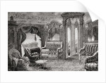 Interior of a Pullman Palace railway carriage in the 19th century. by Anonymous