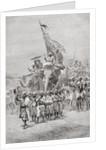 The Maharaja of Baroda, India riding an elephant, in the 19th century by Anonymous