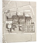 North view of the Benedictine Abbey of St. Germain-des-Pres, Paris, as it existed in the 17th century by French School