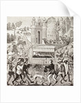 Robert I, Duke of Normandy, is carried in his litter by Negroes by French School