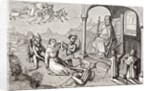 The magician Armogenes orders devils to bring him the apostle St. James by French School