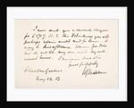 Handwriting and signature of William Eward Gladstone by English School