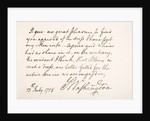 Handwriting and signature of George Washington by American School