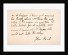 Handwriting and signature of John Keats by English School