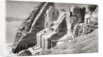 The rock temple at Abu Simbel, Nubia, Southern Egypt in the 19th century by Anonymous
