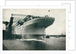 Launching of the RMS Titanic of the White Star Line by Anonymous