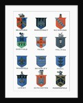 Coats of Arms of the major Yorkshire towns by Anonymous