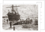 Arrival of a steamer at Southampton Docks, Hampshire, England in the late 19th century by Anonymous