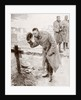 King George V of England visiting the graves of British soldiers killed in France in 1914 by Anonymous