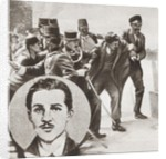The police arresting Gavrilo Princip by Anonymous