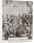 English soldiers marching and singing during the First World War by Anonymous