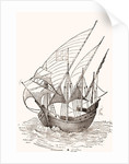 A 15th century Caravel by Anonymous