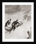A relay party in a blizzard during Sir Ernest Shackleton's British Antarctic Expedition by Anonymous