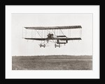 Henri Farman winning the Grand Prix of two thousand pounds for the longest flight of 112 miles in a Farman III Biplane by Anonymous