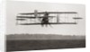 Cody's Biplane in the air in 1909 by Anonymous