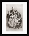 Kaiser Wilhelm II with his wife Augusta Victoria and their family by Anonymous