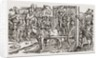 A public hanging during the Tudor period in England by Anonymous