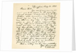 Letter from Abraham Lincoln to Alden Hall, dated February 14 by Abraham Lincoln