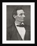 Abraham Lincoln, seen here in 1860 by Anonymous