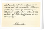 Handwriting and signature of Abraham Lincoln by Anonymous