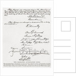 Part of The Attestation Deed of the royal marriage in 1863 between Albert Edward, Prince of Wales, future King Edward VII, and Alexandra of Denmark by Anonymous