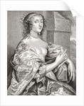 Lucy Hay, née Percy, Countess of Carlisle. English courtier. After the portrait by Anton van Dyk by Anonymous