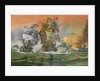 Naval Battle Scene by English School