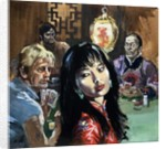 Unidentified girl in Chinese gambling den by English School