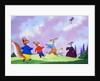 Tufty flying a kite by English School