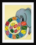 Elephant trunk with numbers by English School