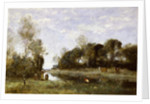 Souvenir of the Bresle at Incheville by Jean Baptiste Camille Corot