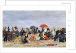 Figures on a Beach, 1884 by Eugene Louis Boudin