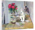 Statuette by Maillol and Red Roses, c.1903-05 by Edouard Vuillard