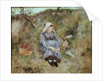 Seated Peasant Girl, 1883 by Camille Pissarro