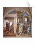 Benedict repairs a broken colander through prayer by Giovanni Antonio Bazzi Sodoma