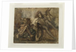 Study for a composition showing a Jester, a Male Figure and a Bird, 1845-52 by Frederic Leighton