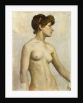 Female nude, three-quarter view from waist up, 1890s by Norman Hirst