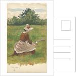 Woman gathering beach grass 1.VIII.1886, 1886 by Joseph Edward Southall