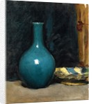 Still life with blue pot and folded cloth, late 1880s by Albert de Belleroche