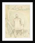 Portrait of the artist's husband, Reginald Brill, sketching, c.1930 by Rosalie Brill