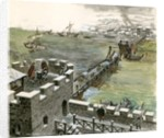 Bridge across the Thames constructed by the Romans by Peter Jackson
