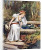 'Do not cry, dear princess,' said the Frog. 'I can recover your ball for you' by William Henry Margetson