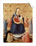 Madonna and Child with angels, Saint Dominic and Saint Catherine of Alexandria, c.1435 by Fra Angelico