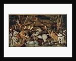 The Battle of San Romano in 1432: The Unseating of Bernardino della Carda, 1435-55 by Paolo Uccello