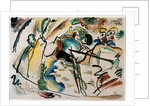 Expressionism: study for painting with white form. by Wassily Kandinsky