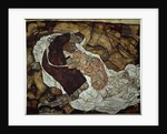 Woman and death. by Egon Schiele