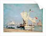 Sailboats, c. 1869 by Eugene Louis Boudin