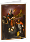 Madonna with Child and Saints Clare, Ambrose and Erasmus, c.1625 by Italian School
