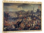 Attack of the Saracens on the Island of Malta, defended by the Knights Hospitaller in 1565 by Italian School